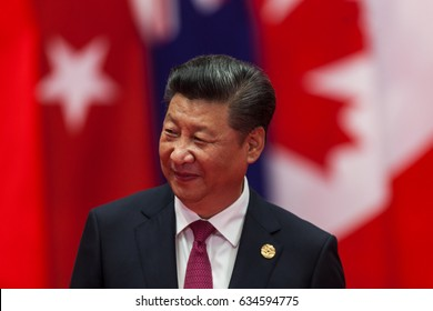 HANGZHOU, CHINA - SEPT. 4. 2016 - Chinese president Xi Jinping welcomes guests in G20 summit in Hangzhou.