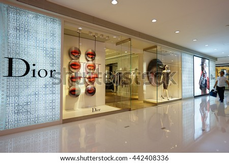 7437cd776656 HANGZHOU CHINAJUN 242016 Dior Store Night Stock Photo (Edit Now ...