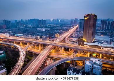 Hangzhou city night