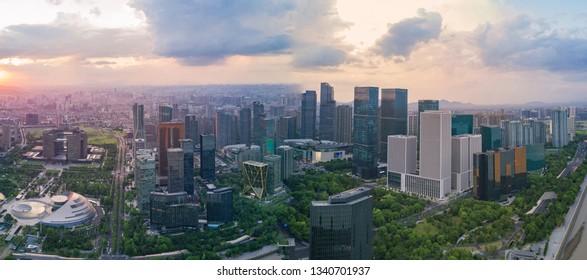 Hangzhou city skyline