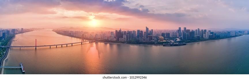 Hangzhou panoramic city scenery
