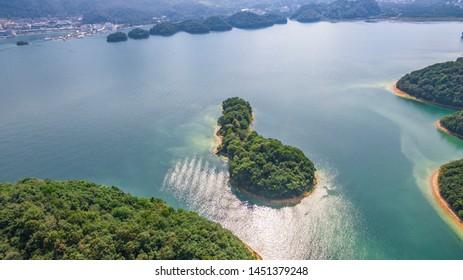 Hangzhou Qiandao Lake in blue sky