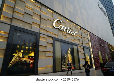 HANGZHOU-MAR. 26, 2015. CARTIER STORE. China accounts for about 20 percent, or 180 billion renminbi ($27 billion1 ) of global luxury sales in 2015, according to new McKinsey research.