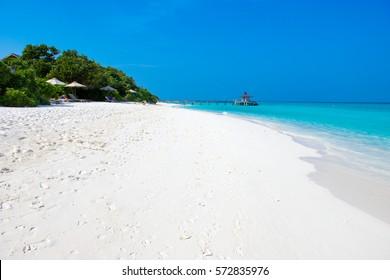 Hanimaadhoo beach, Maldives