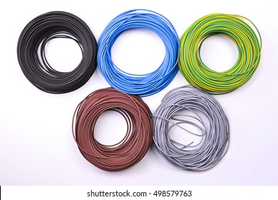 hanks of colored wire