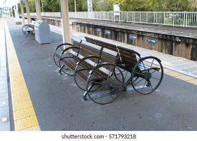 Hankyu railway Arashiyama Station, in Kyoto, Japan.