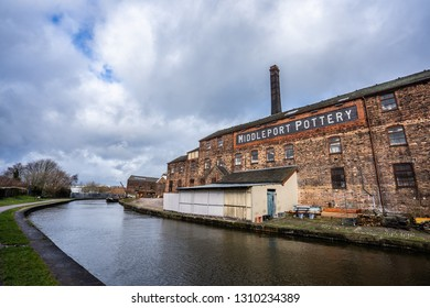 Hanley, Stoke on Trent, Staffordshire - 11th February 2019 - The Middleport Pottery Museum located by the canal in the heart of the former industrial city of Stoke