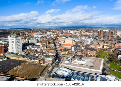 Hanley, Stoke on Trent, Staffordshire - 11th March 2019 - Work continues on the new Hilton hotel complex at the One Smithfield Stoke on Trent City Council buildings location in the heart of the city