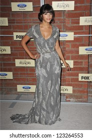 Hannah Simone at the Fox Fall Eco-Casino Party in Culver City. September 10, 2012  Culver City, CA Picture: Paul Smith