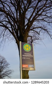 Hannover, Germany - 01.19.19 : Bus Stop