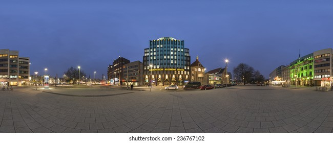 HANNOVER, GERMANY - DECEMBER 05, 2014: Anzeiger-Hochhaus in Hannover. The Anzeiger-High-Rise was built in 1927-1928 and was one of the first high rises in the German empire.
