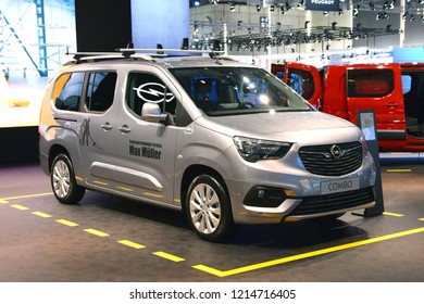 Hannover, Germany - September, 20, 2018: Opel Combo Life during presentation on IAA.