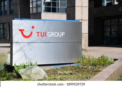 Hannover, Lower Saxony, Germany - April 5, 2020: Headquarters of TUI Group in Hannover, Germany - TUI is the lagest leisure, travel an tourism company in the world