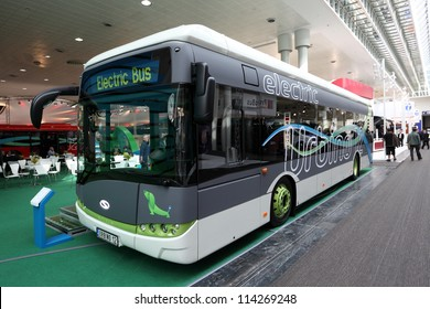 HANNOVER - SEP 20: New Solaris Urbino 12 Electric Bus at the International Motor Show for Commercial Vehicles on September 20, 2012 in Hannover Germany