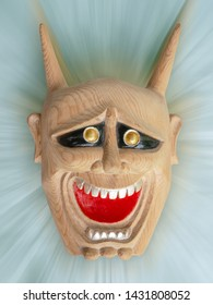 Hannya,Face of Traditional japanese theater masks made of wood