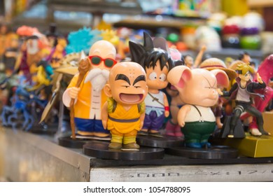 HANOI CITY.VIETNAM.MARCH 2018. Photo taken during vacation in Hanoi.The souvenir of famous cartoon character from Japan sale in Han Market, Da Nang city.