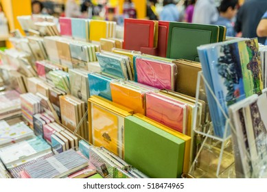Hanoi, Vietnam 06 November 2016: closed up the stationeries, school supplies on shelf in the stationery shop