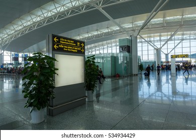 Hanoi, Vietnam - 27 Nov, 2016: scene at Noi Bai airport