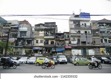 Hanoi, Vietnam - 29 October 2011:Crowded streets of Hanoi