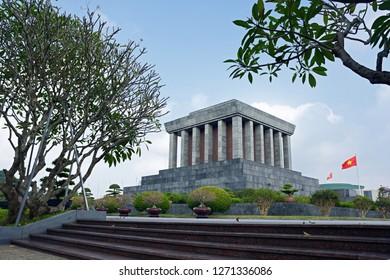 Hanoi ,Vietnam. DEC7:2018.Ho Chi Minh Mausoleum.