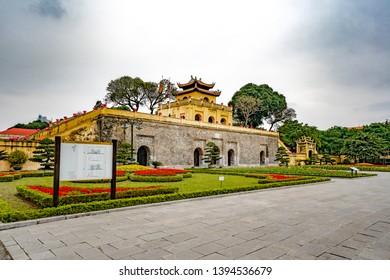 HANOI, VIETNAM, Jan 6, 2019 Thang Long Citadel Royal as a world heritage famous in Ha Noi, Viet Na