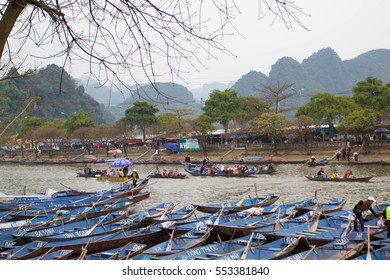 Hanoi, vietnam Mar 15, 2013: Yen Stream - HUONG Pagoda Festival is the biggest and longest annual festival in VIETNAM