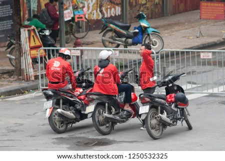 Hanoi Vietnam November 24 2018 Uber Stock Photo (Edit Now