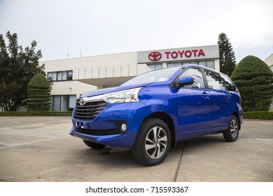 Hanoi, Vietnam - Sep 1, 2017: Close up a Toyota Avanza MPV car, taken within a test drive. Toyota Motor is a Japanese automotive manufacturer headquartered in Toyota, Aichi, Japan.