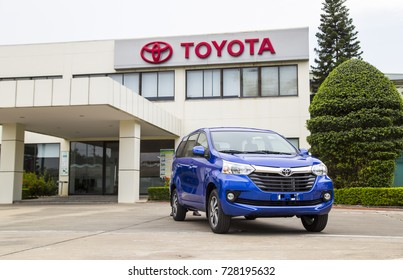 Hanoi, Vietnam - Sep 1, 2017: Toyota Avanza MPV car, taken within a test drive. Toyota Motor is a Japanese automotive manufacturer headquartered in Toyota, Aichi, Japan.