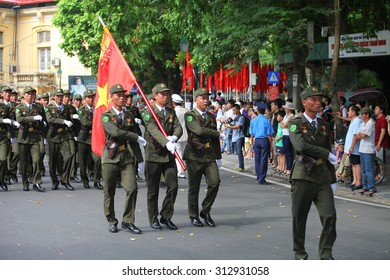 hanoi, vietnam, Sep 2, 2015: parade celebrate Independence Day in Vietnam