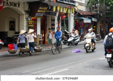 HANOI, VIETNAM - SEPTEMBER 09, 2016: Local life in Hanoi.