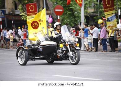 HANOI, VIETNAM - SEPTEMBER 2: The VTV International Cycling Tournament â?? Ton Hoa Sen Cup 2016 on September 2, 2016 in Hanoi, Vietnam.