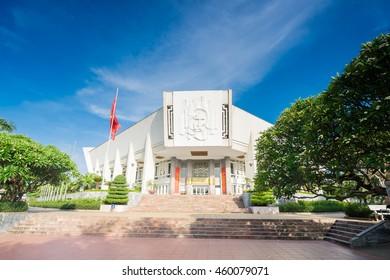 HANOI, VIETNAM-JUNE 26, 2016: Ho Chi Minh Mausoleum in Hanoi, Vietnam.