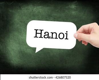 Hanoi written on a speechbubble