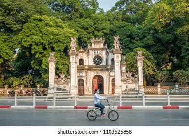 Hanoi,Vietnam - November 1,2017 : Quan Thanh Temple is a Taoist temple in Hanoi, Vietnam. It is located near West Lake in a ward and is one of the leading tourist attractions in Hanoi.
