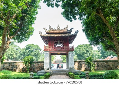 Hanoi,Vietnam - November 1,2017 : Temple of Literature, it also known as Temple of Confucius and ancient university in Hanoi.