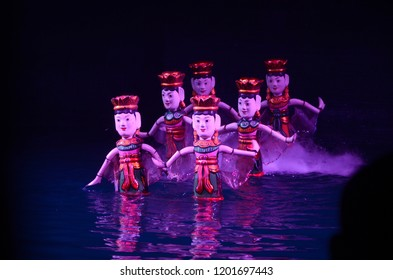 Hanoi/Vietnam_05 Oct 2018: Water Puppet in Hanoi has its roots in an art form that dates back to the 11th century.