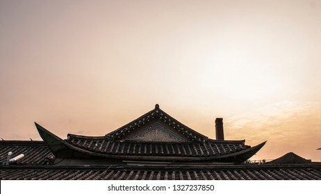 Hanok refers to a traditional Korean-style house.  Hanoks are made of wood and other things from nature.
