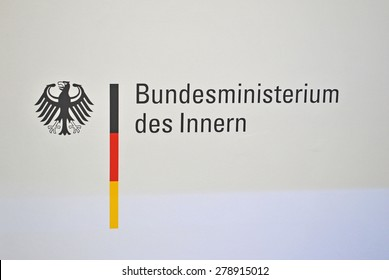 HANOVER, GERMANY, 20 March 2015 - Logo of the German Interior Ministry.