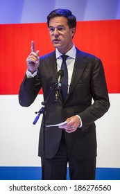 HANOVER, GERMANY - APRIL 7:  Dutch Prime Minister Mark Rutte speeching at the opening of Hannover Messe. April 7, 2014. The Hannover Messe is the largest industrial trade fair in the world