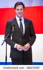 HANOVER, GERMANY - APRIL 7:  Portrait of Dutch Prime Minister Mark Rutte at the opening of Hannover Messe. April 7, 2014. The Hannover Messe is the largest industrial trade fair in the world