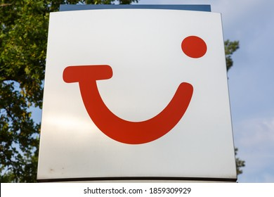 Hanover, Germany - August 9, 2020: TUI Deutschland GmbH logo sign symbol headquarters headquarter Hanover in Germany.