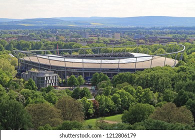 Hanover, Germany - May 03, 2011: AWD Arena Sports Stadium in Hannover, Germany.