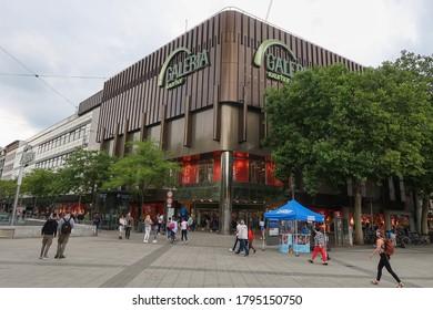 Hanover, Lower Saxony Germany - July 24, 2020:  Galeria Karstadt Kaufhof in Hanover, a German department store