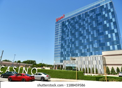 HANOVER, MD, USA - AUGUST 1, 2018: The popular Maryland Live Casino and hotel at the Arundel Mills shopping center.