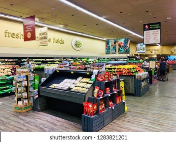 HANOVER, MD, USA - JUNE 15, 2018: Safeway fresh produce section of grocery store.