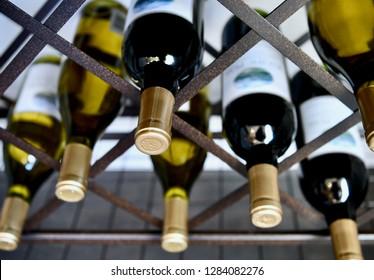 HANOVER, MD, USA - MARCH 21, 2018: Wine station inside modern home.
