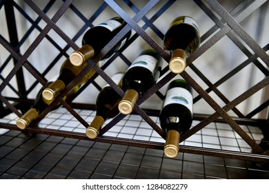 HANOVER, MD, USA - MARCH 21, 2018: Wine station inside modern home.