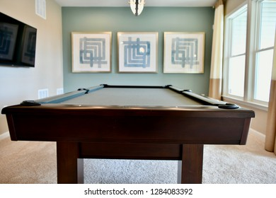 HANOVER, MD, USA - MARCH 21, 2018: Game room inside modern home.