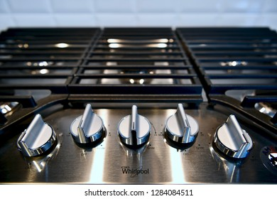 HANOVER, MD, USA - MARCH 21, 2018: Kitchen appliance stovetop inside home.